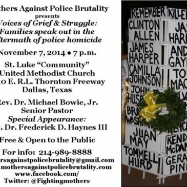 Mothers Against Police Brutality presents Voices of Grief & Struggle: Families speak out in the aftermath of police homicide