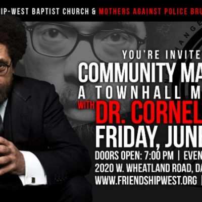 Community Matters: Town Hall with Dr. Cornell West