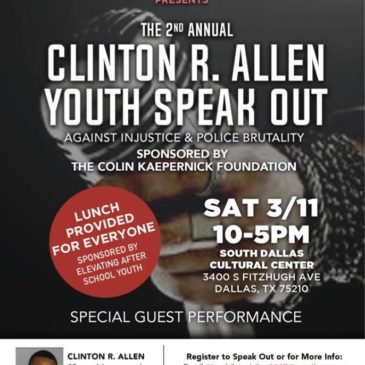 RSVP & Register for The 2nd Annual Clinton R. Allen Youth Speak Out