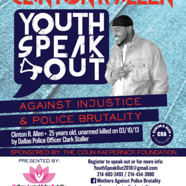 3rd Annual Clinton R. Allen Youth Speakout Against Injustice & Police Brutality