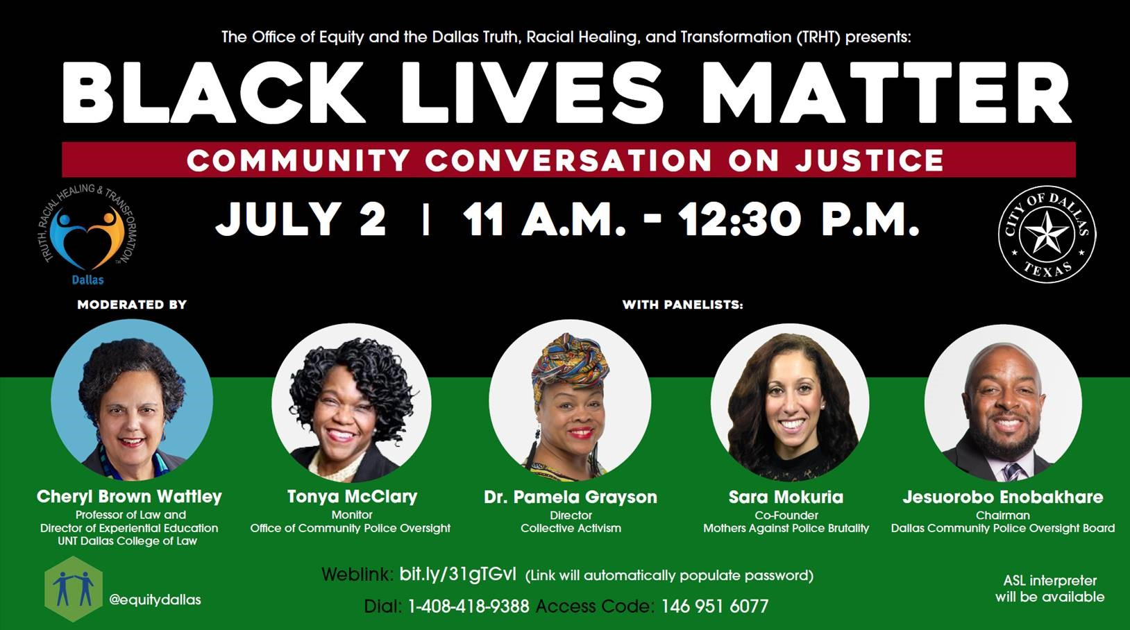 Black Lives Matter: Community Conversation on Justice