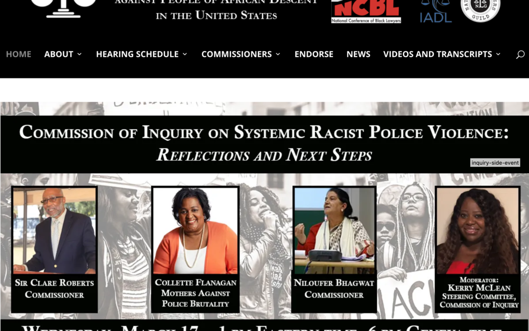 International Commission of Inquiry on Systemic Racist Police Violence against People of African Descent in the United States