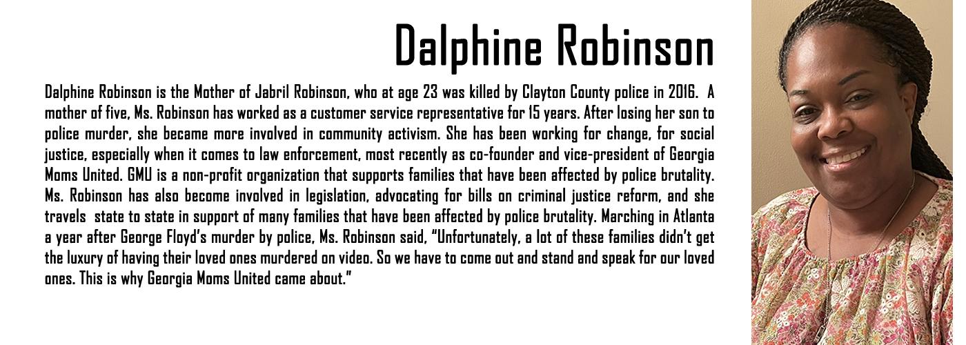 MAPB Fellow Dalphine Robinson Bio