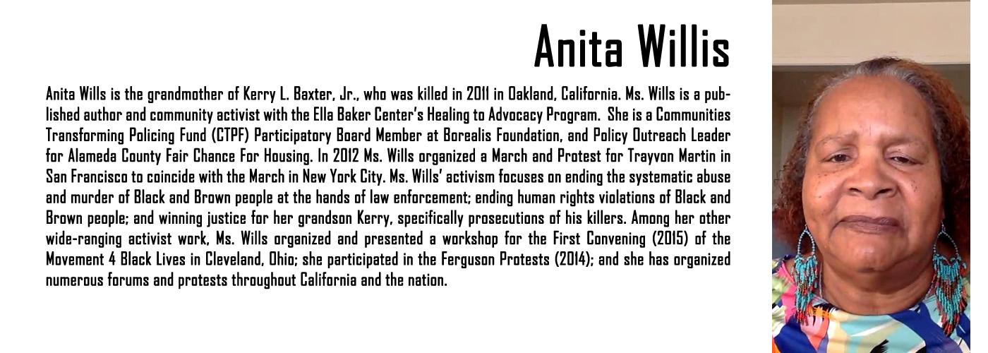 MAPB Fellow Anita Willis Bio
